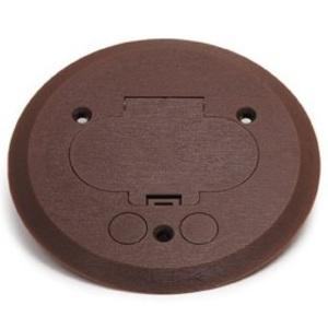 "Wiremold 895P-BRZ Round Duplex Receptacle Cover, 5-1/2"" Diameter, Non-Metallic"