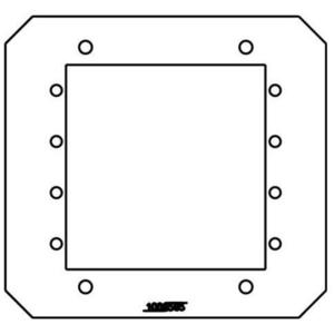 Wiremold 8AAP Device Mounting Plate, 2-Gang, For 8AT Series, Metallic