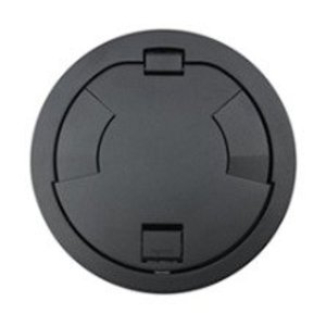 "Wiremold 8CT2BK Flush Style Cover Assembly, Diameter: 8"", Black"