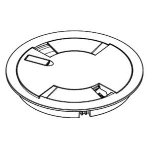 Wiremold 8CTBK Floor Box Cover Assembly, Type: Flush, Material/Finish: Aluminum/Black