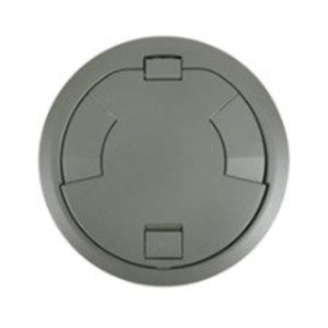 "Wiremold 8CTC2GY Surface Style Cover Assembly, Diameter: 8"", Gray"
