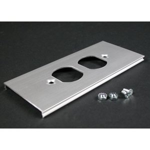 "Wiremold AL3346D Duplex Cover for Aluminum Raceway, 2-3/4"" Wide"