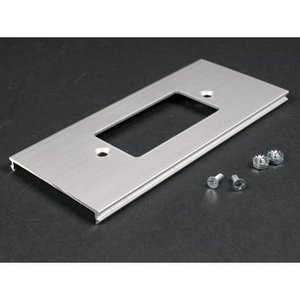 Wiremold AL3346G Cover Plate, For AL3300B Series 2-Piece Raceway, Rectangular Device, Aluminum, Satin Finish