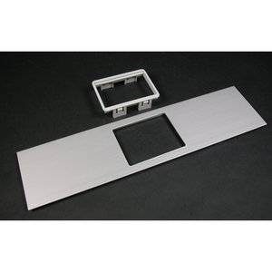 Wiremold ALA-MAB Mini Adapter Cover Plate, Aluminum