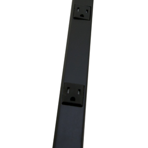 Wiremold BK20GB306TR Tamper Resistant Outlet Strip, Black, 6 Outlets