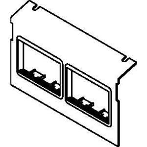Wiremold C8004P-2ACT Ac8104 & Ac8840 Plate For 2 Act Bez
