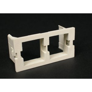 Wiremold CM2-U2ATT-WH Dual Unloaded Systimax Module, Non-Metallic, White