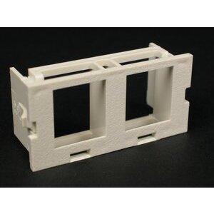 Wiremold CM2-U2KEYA-G Dual Unloaded Keystone Module, Non-Metallic, Gray