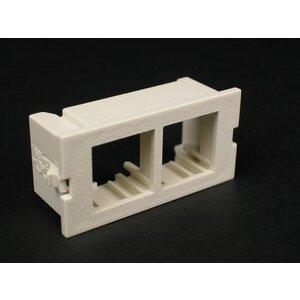 Wiremold CM2-U2NOR-GY Dual Unloaded Flushmount Module, Non-Metallic, Gray