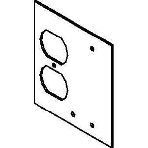 Wiremold DGT-DP/B Top Plate 1 Dup & 1 Blank