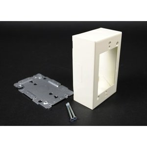 Wiremold G2048 Device Box, For 2000, V500, V700 Series 2-Piece Raceways, 1-Gang, Steel, Gray