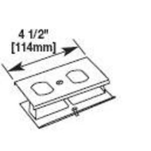 Wiremold G3043BE Duplex Receptacle Cover / 3000 Series Raceway, Gray