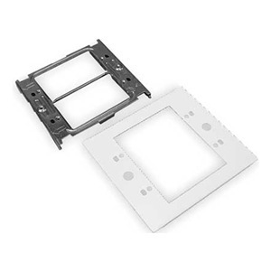 Wiremold G4047C-2 2-Gang Device Plate, 4000 Series Raceway, Gray