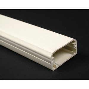 "Wiremold NM2000BC Plugmold Raceway Base & Cover, Non-Metallic, Ivory, 1-3/4"" x 5'"