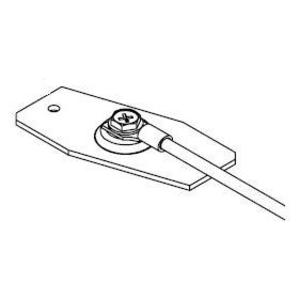 Wiremold OFR9 Raceway Grounding Clip, 1500 Series, Steel