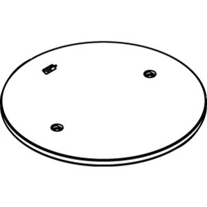 """Wiremold RC4APTCBK Abandonment Plate, Size: 3/4"""", Black, Cover Size: 7-1/2"""", Aluminum"""