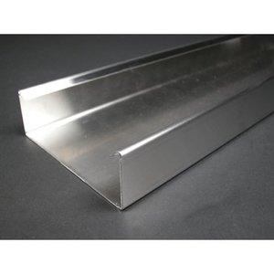 """Wiremold S4000B Raceway Base, S4000 Series, Stainless Steel, 4-3/4"""" x 1-3/4"""" x 10'"""