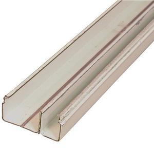 """Wiremold V2400BD Divided Raceway Base, 2400 Series, Steel, Ivory, 1-29/32"""" x 10'"""
