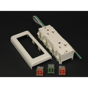 Wiremold V2427GT 20 Amp Duplex Receptacle 2400 Series Raceway, Ivory