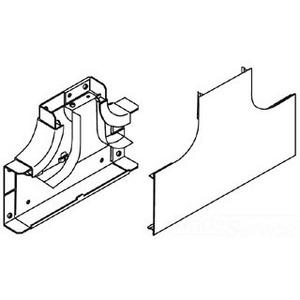 Wiremold V4015DFO Radiused Full Capacity Divided Tee Fitting, 4000 Series, Steel, Ivory