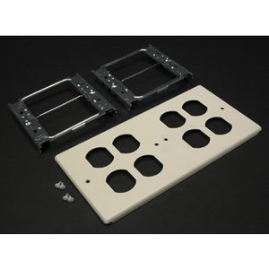 Wiremold V4047-2BBBB 4-gang W/four Duplex Openings-ivory