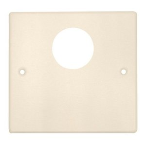 Wiremold V4047JX 2-Gang Single Opening Plate, 4000 Series Raceway, Ivory