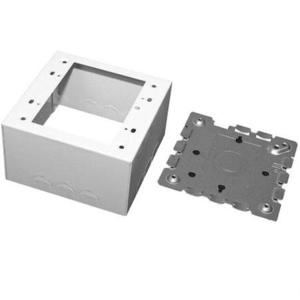 Wiremold V5744-2 Deep Switch/Receptacle Box, 2-Gang, 500/700 Series, Ivory