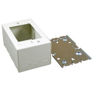 Wiremold V5744 Extra Deep Device Box, 1-Gang, 500/700 Series, Ivory