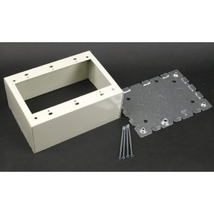 Wiremold V5744S-3 Deep Switch/Receptacle Box, 500/700 Series Raceway, Ivory