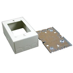 Wiremold V5745 Combo Switch/Receptacle Box, 1-Gang, 500/700 Series Raceway, Ivory