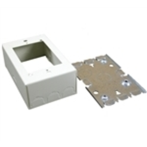 Wiremold V5748 Switch/Receptacle Box, 1-Gang, 500/700 Series Raceway, Ivory