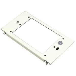 Wiremold V6007C-1 Vertical Mount Device Plate, 1-Gang, 6000 Series Raceway, Ivory