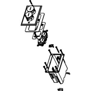 Wiremold WMFB1DRN 1-gang 15a Duplex Nickel