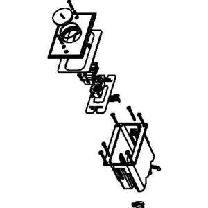 Wiremold WMFB1KS2N Floor Box Assembly, Nickel Floor Plate