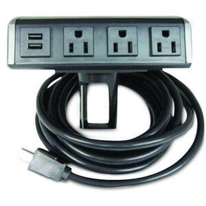 Wiremold WSC320-S Desktop Power Center, 15A, 125V, 6' Cord