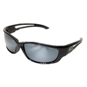 Wolf Peak SK-XL117 Kazbek XL Protective Eyewear, Full Frame, Gloss Black Frame/Silver Mirror Lens