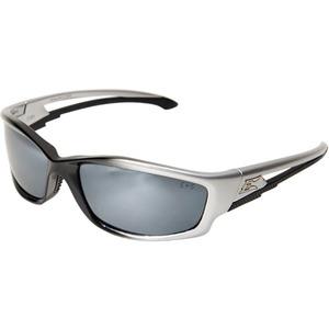 Wolf Peak SK117 Kazbek Protective Eyewear, Full Frame, Gloss Black Frame/Silver Mirror Lens