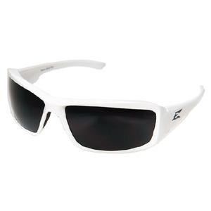 Wolf Peak TXB246 Brazeau Protective Eyewear, Polarized, Gloss White Frame/Smoke Lens
