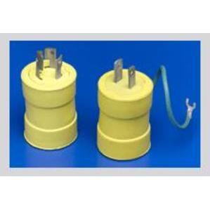 Woodhead 1704 Safeway Adapter 5-15R Receptacle - Femalend, Non-Nema Plug - Male, 15A/125V