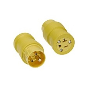 Woodhead 1733 Adapter, 5-20 Receptacle/Female, R&S Pins Plug/Male, 20A/125V