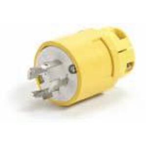 Woodhead 26W76 Locking Plug, 20A, 3PH 480V, Wetguard, 3P4W