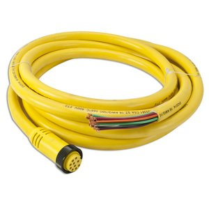 "Woodhead 301000A01F120 Cordset, 10P, Mini-Change, Female, Yellow, 12"", 7A, 600V AC/DC"