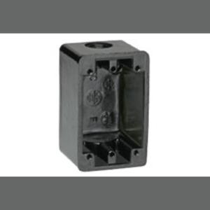 "Woodhead 451 FS Device Box, 1-Gang, Type FS, 3/4"", Non-Metallic"