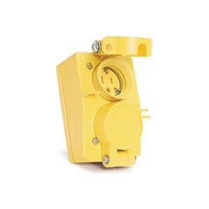 Woodhead 65W47DPLX Duplex Coverplate, Watertight, Flip Lid
