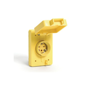 Woodhead 65W49 Watertite Receptacle, L6-15r Fs Coverplate