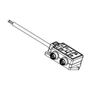 Woodhead 803P801 Cord Set, Micro-Change, Molded Junction Box, 8 Port, 5P, M12