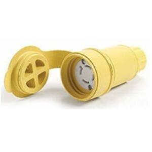 Woodhead CS81W64 50 Amp, 480V AC, 3PH California Style Watertight Locking Connector