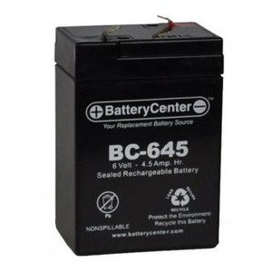 BC-645 Sealed Lead Acid Battery, 6V, 4.5A