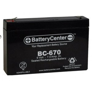 BC-670 Sealed Lead Acid Battery, 6V, 7A