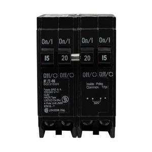 BQC215220 Quad Breaker, Type BQC, 2P 15A Outer, 2P 20A Center, 120/240V